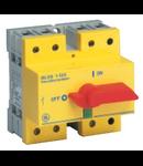 Separator de sarcina cu montare pe sina DIN, 4P, 5 module, rosu/galben, 100A