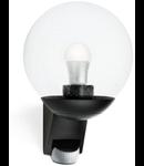 Lampa de exterior cu senzor IP44, max. 60W E27, negru, L 585 S