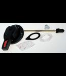 Maner negru pentru capacul usii rabatabile; H: 55 mm; L: 200mm;