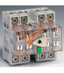 Separator de sarcina cu montare pe sina DIN fara maner pentru panouri electrice, 4P, 5 module, transparent, 125A