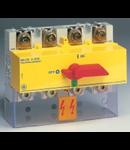 Separator de sarcina cu montare pe sina DIN, 4P, 8 module, rosu/galben, 200A