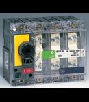 Separator de sarcina cu montare pe panou fara maner, 3P, transparent cu eticheta galbena, 125A