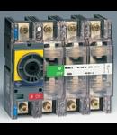 Separator de sarcina pentru montare pe panou fara maner, 3P+N, transparent cu eticheta galbena, 250A