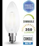 Bec led filament VT-2054D 4W E14 2700k lumina calda, dimabil