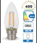 Bec led filament VT-2064 4W B22 2700k lumina calda
