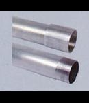 Teava aluminiu filetata cu 1 manson filetat, D.ext:25 mm,D.int. 22 mm