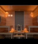Kit iluminare sauna 4mp, difuzor  fibra optica cu 5 spoturi 1W led
