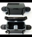 Cutie etansare legaturi electrice,IP 65,negru