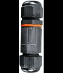 Cutie etansare legaturi electrice cu conector,IP 65,neagra