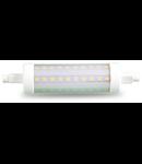 Bec LED pentru proiector 10 W, soclu R7S ,alb cald