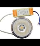 Bec spot LED,20 W, soclu AR11 ,cu transformator,alb rece,unghi dispersie 40 °