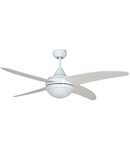 Lustra  cu ventilator 2 becuri , 3 viteze Pelicano  Alb 132cmx30-40cm