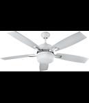Lustra  cu ventilator 2 becuri , 3 viteze Milenaire  Alb 132cmx32-45cm