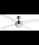 Lustra  cu ventilator 2 becuri E27 3 viteze Cross Transparent  122cmx29-42cm