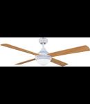 Lustra  cu ventilator 2 becuri E14 3 viteze Cross LEMN 122cmx38cm