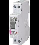 KZS-1M Intrerupatoare de curent rezidual cu protecție la supracurent, 1 module, A and AC type KZS-1M 1p+N A C6/0.03 6kA