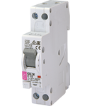 KZS-1M Intrerupatoare de curent rezidual cu protecție la supracurent, 1 module, A and AC type KZS-1M 1p+N A C20/0.03 6kA