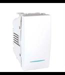 Intrerupator 1 modul  alb Unica cu led semnalizare