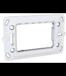 Placa suport 4 module plastic Unica