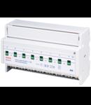 Actuator bloc 8 relee  16A/canal si comanda manuala locala KNX