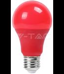 Bec cu LED rosu  - 9W E27 A60 termoplastic lumina rosie  VT-2000