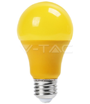 Bec cu LED galben  - 9W E27 A60 termoplastic lumina galbena  VT-2000