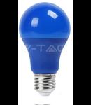 Bec cu LED albastru  - 9W E27 A60 termoplastic lumina albastra  VT-2000