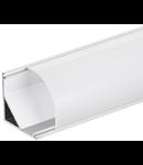 Profil LED unghiular alb AP208 30x30mm