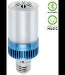 Bec Led 6W lumina calda 3000K cu difuzor muzical 3W si conexiune Bluetooth