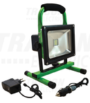 Proiector LED, portabil, cu acumulator si functie de urgenta 20W 10Ah 8.4V