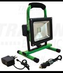 Proiector Portabil Cu Sursa LeD si acumulator RSMDAE10W 110-240 VAC; 10 W; IP54; 3,7 V; 4Ah; 600 lm, EEI=A