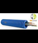 Tub copex cablat, cablu utp CAT6 si cablu coaxial RG6