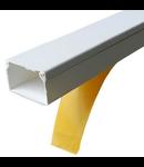 Canal de cablu 40x40 alb cu adeziv