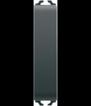 Intrerupator cap scara 1P 250V ac - 10AX - NEUTRAL - 1/2 MODULE -.BLACK - CHORUS