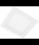 Spot incastrat LED 6W  lumina neutra 4000K  decupare 105x105mm 360lm