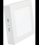 Spot  LED patrat aparent, 225x225x39mm, 18W lumina calda 3000K