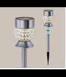 Corp de iluminat solar Tarus 62mm diametru 2x0.06w