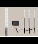 Set 3 x Lampa solara Tarus 18mm diametru 3x0.06w