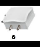 "Conector imbinare plana  ""L dreapta"" pentru  bagheta LED LINK"