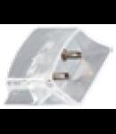 Conector imbinare liniara transparenta pentru  bagheta LED LINK