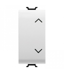 Intrerupator cu revenire 1P 250V ac - NO+NO 10A - WITH INTERLOCK -SYMBOL: UP- DOWN - 1 MODULE - WHITE - CHORUS