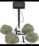 Corp de iluminat solar Tarus 80mm diametru 4x0.06w