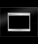Placa ornament Lux  Chorus Toner Negru - 3 module