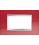 Placa ornament Lux  Chorus Rosu  Glamour - 4 module