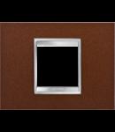 Placa ornament  Lux Chorus Fier Oxidat - 2 module