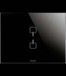 Placa ornament  Ice  Touch  Chorus Negru  2 simboluri - 3 module