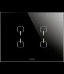 Placa ornament  Ice  Touch  Chorus Negru  4 simboluri - 3 module