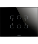 Placa ornament  Ice  Touch  Chorus Negru  6 simboluri - 3 module