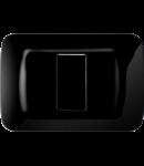 Placa ornament Toner Negru 1 modul Gewiss System