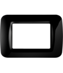 Placa ornament Toner Negru 3 module Gewiss System